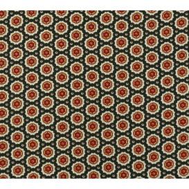 tissu viscose noir forme marron largeur 140cm x 50cm