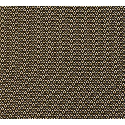 tissu viscose noir goutte brun largeur 140cm x 50cm