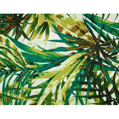 tissu viscose feuilles jungle vertes largeur 145cm x 50cm