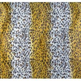 tissu peau de bête léopard jaune largeur 150cm x 50cm