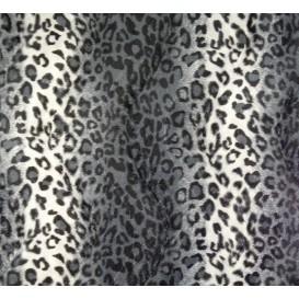 tissu peau de bête guépard gris largeur 150cm x 50cm
