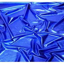coupon lamé stretch bleu roi