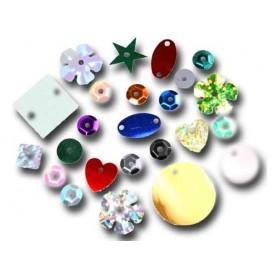paillettes 5mm assortis formes et couleurs