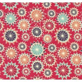 tissu patchwork makower arabesque fuchsia largeur 110cm x 25cm