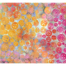 tissu patchwork makower batik multi formes largeur 110cm x 25cm