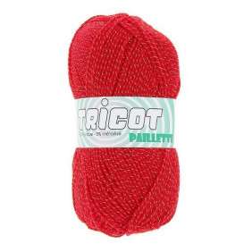 4 pelotes de laine tricot paillette
