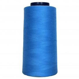 cône de fil à surfiler et à coudre bleu nattier