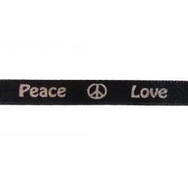 """ruban satin """"peace & love"""""""