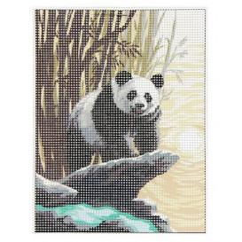 Kit canevas panda 15x20 cm