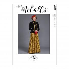 patron veste et jupe historique McCall's M8077