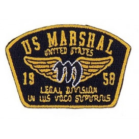 écusson US Marshal thermocollant