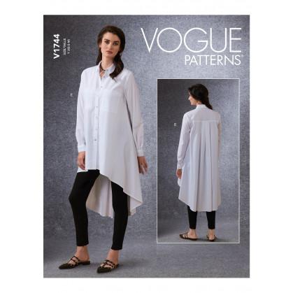 patron chemise et ceinture Vogue V1744