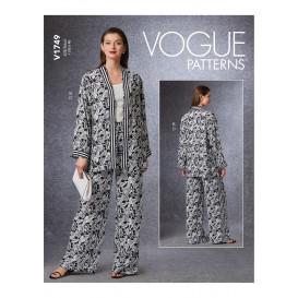 patron gilet, veste, pantalon Vogue V1749