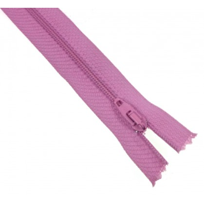 fermetures à glissières polyester violet clair