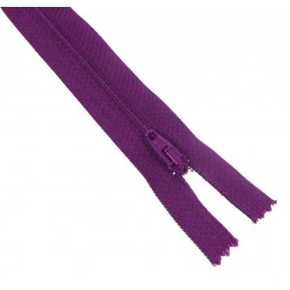 fermetures à glissières polyester violet foncé