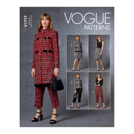 patron veste, jupe, pantalon Vogue V1717