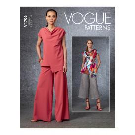 patron haut et pantalon Vogue V1706