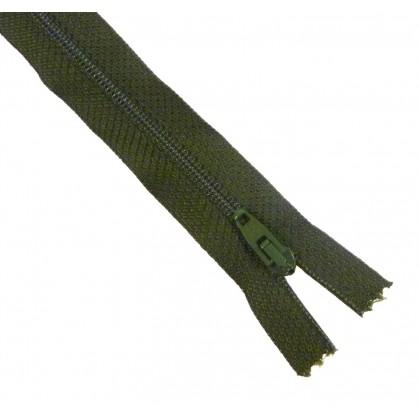 fermetures à glissières polyester kaki