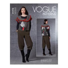 patron gilet et pantalon Vogue V1715