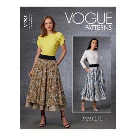 patron haut et jupe Vogue V1705