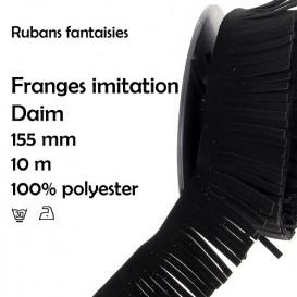 bobine 10m frange imitation daim 155mm