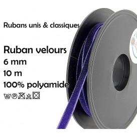bobine 10m ruban velours 6mm