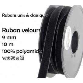 bobine 10m ruban velours 9mm