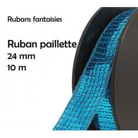 bobine 10m ruban paillette 24mm