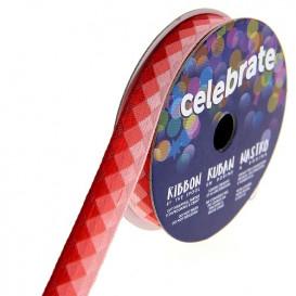 bobine de ruban celebrate losange rouge 10mm x 2m