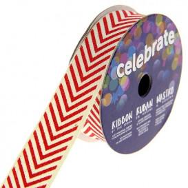 bobine de ruban celebrate chevron rouge 15mm x 2m