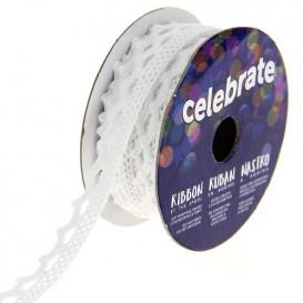 bobine de dentelle celebrate blanche 8mm x 2m