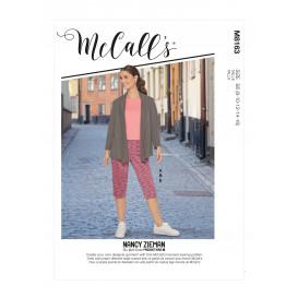 patron veste, hauts, jupe, pantalon McCall's M8163