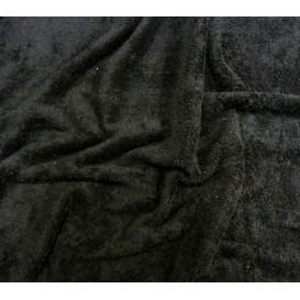 tissu éponge noir largeur 160cm au mètre