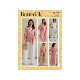patron veste, ceinture-écharpe Butterick B6775