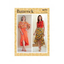 patron jupe Butterick B6773