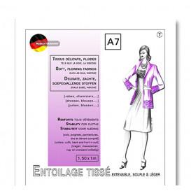entoilage tissé thermocollant extensible