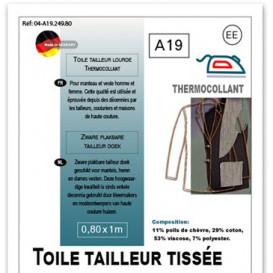 toile tailleur tissée thermocollante 0,80m x 1m