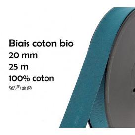 biais coton bio uni 20mm à la bobine de 25m