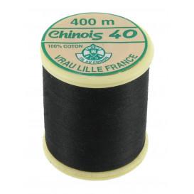 fil coton mercerisé au chinois noir 400m