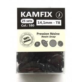 25 pressions résine KAM ronds T8 14,1mm