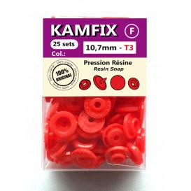 25 pressions résine KAM ronds T3 10,7mm