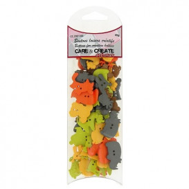 boutons assortiment animaux 45gr