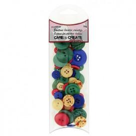 boutons assortiment multicolore 50gr