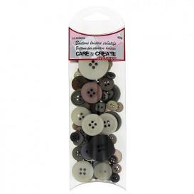 boutons assortiment camaïeu marron 50gr