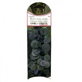 boutons assortiment camaïeu gris 50gr