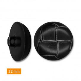 bouton plastique imitation cuir 22mm
