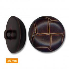 bouton plastique imitation cuir 25mm
