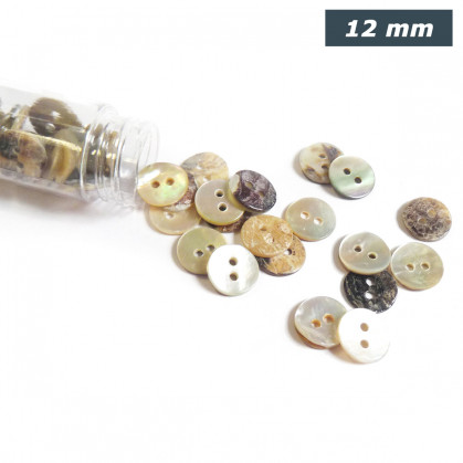 bouton nacre agoya rond 12mm