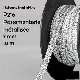 bobine 10m galon tresse brillant 7mm