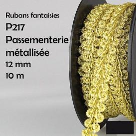 bobine 10m galon tresse brillant 12mm